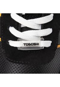 Czarne półbuty Togoshi z cholewką, klasyczne
