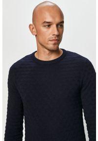 Niebieski sweter Jack & Jones z długim rękawem, na co dzień