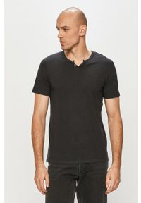 Czarny t-shirt Jack & Jones casualowy, na co dzień
