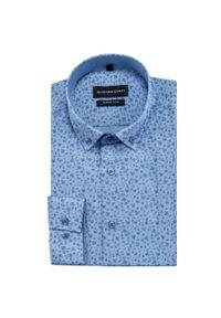 Niebieska koszula Giacomo Conti długa, casualowa