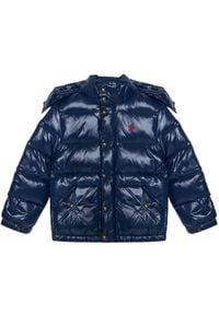 Niebieska kurtka puchowa Polo Ralph Lauren polo