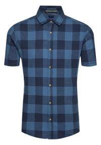 Jack & Jones - Jack&Jones Koszula Keith 12187970 Granatowy Regular Fit. Kolor: niebieski
