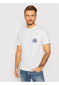 Szary t-shirt Tommy Jeans retro