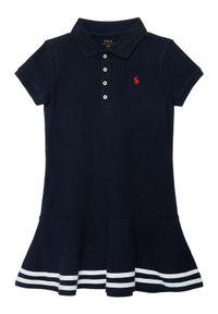 Niebieska sukienka Polo Ralph Lauren prosta, casualowa, na co dzień