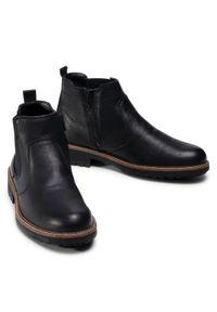 Czarne buty zimowe Imac klasyczne, na co dzień, z cholewką