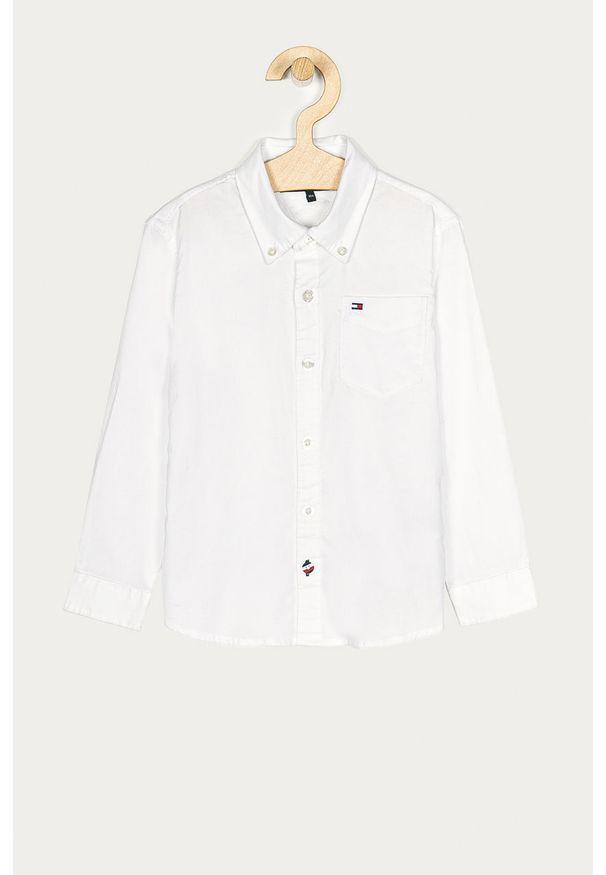 Biała koszula TOMMY HILFIGER button down, na co dzień