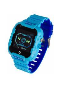 Niebieski zegarek GARETT klasyczny, smartwatch