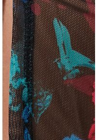 Desigual - Sukienka. Kolor: czarny. Materiał: tkanina. Długość rękawa: długi rękaw. Typ sukienki: dopasowane