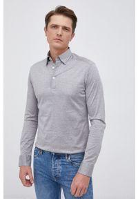 Eton - ETON - Koszula bawełniana. Okazja: na co dzień. Kolor: szary. Materiał: bawełna. Długość rękawa: długi rękaw. Długość: długie. Wzór: gładki. Styl: casual