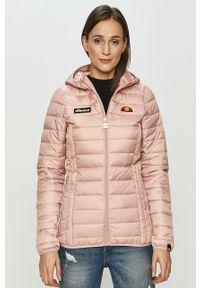 Różowa kurtka Ellesse z kapturem, na co dzień, casualowa