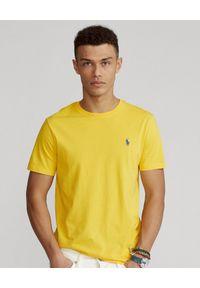 Żółty t-shirt Ralph Lauren polo, z haftami