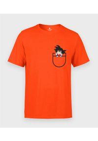MegaKoszulki - Koszulka męska Goku w kieszonce. Materiał: bawełna