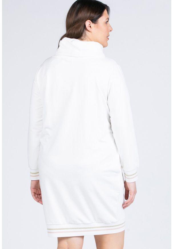Biała sukienka Monnari na co dzień, z napisami, plus size, sportowa