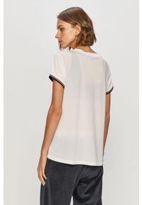 Biała bluzka Tommy Sport na co dzień, z aplikacjami, sportowa
