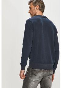 Niebieska bluza nierozpinana Pepe Jeans z nadrukiem, casualowa, na co dzień, bez kaptura