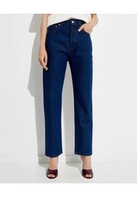 NANUSHKA - Granatowe jeansy Kemia. Okazja: na co dzień. Stan: podwyższony. Kolor: niebieski. Styl: elegancki, klasyczny, casual