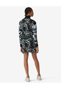 Kenzo - KENZO - Dzianinowa spódnica Leopard. Kolor: zielony. Materiał: dzianina. Wzór: aplikacja, nadruk. Styl: klasyczny