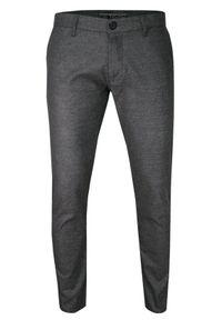 Szare spodnie TO-ON casualowe, melanż