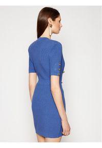 Elisabetta Franchi Sukienka dzianinowa AM-05S-11E2-V440 Niebieski Slim Fit. Kolor: niebieski. Materiał: dzianina