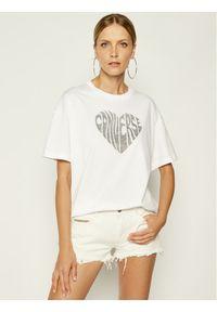 Biały t-shirt Converse z nadrukiem