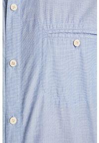 Niebieska koszula medicine na co dzień, krótka