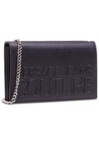 Versace Jeans Couture - Torebka VERSACE JEANS COUTURE - E3VWAPR6 71882 899. Kolor: czarny. Materiał: skórzane. Styl: wizytowy