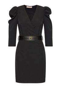 Czarna sukienka koktajlowa Rinascimento