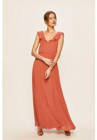 Sukienka Vila rozkloszowana, maxi, na ramiączkach #6