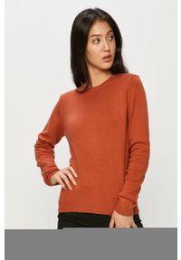Pomarańczowy sweter Jacqueline de Yong casualowy, na co dzień, z okrągłym kołnierzem