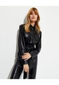 NANUSHKA - Czarna kurtka z wegańskiej skóry Artha. Kolor: czarny. Materiał: skóra