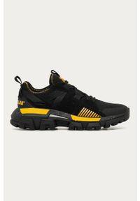 Czarne sneakersy CATerpillar z cholewką, na sznurówki, z okrągłym noskiem