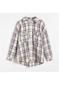 Reserved - Kurtka koszulowa w kratę - Niebieski. Kolor: niebieski