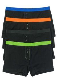 Czarne majtki bonprix w kolorowe wzory