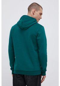 Adidas - adidas - Bluza. Kolor: zielony. Materiał: bawełna, dzianina, tkanina, poliester. Wzór: nadruk
