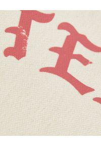 ONETEASPOON - EDYCJA LIMITOWNA OneTeaspoon x Moliera 2 - Bawełniana shopperka z logo. Kolor: biały. Wzór: napisy, nadruk, aplikacja, paski. Styl: klasyczny. Rodzaj torebki: na ramię