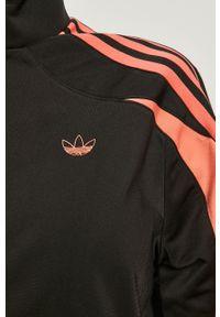 Czarna bluza rozpinana adidas Originals na co dzień, z aplikacjami