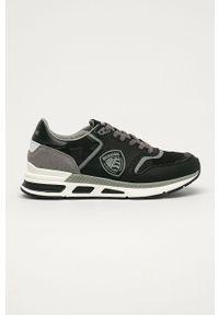 Czarne sneakersy Blauer na sznurówki, z okrągłym noskiem