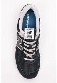 Czarne sneakersy New Balance z okrągłym noskiem, z cholewką