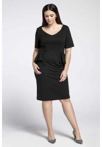 Czarna sukienka Nommo plus size, dla puszystych