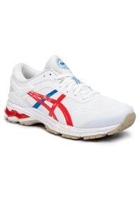 Białe buty do biegania Asics z cholewką, Asics Gel Kayano