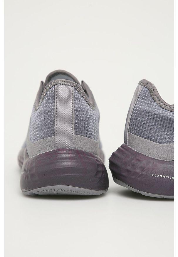 Szare buty sportowe Reebok na sznurówki, z okrągłym noskiem, z cholewką