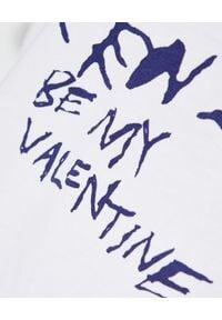 Kenzo - KENZO - Luźny t-shirt z grafiką - EDYCJA LIMITOWANA. Kolor: biały. Materiał: bawełna. Wzór: kwiaty, napisy, haft, aplikacja. Sezon: wiosna
