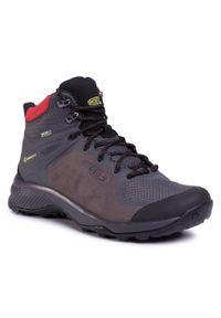 Szare buty trekkingowe keen trekkingowe, z cholewką