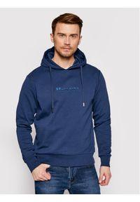 La Martina Bluza RMF003 FP169 Granatowy Regular Fit. Kolor: niebieski
