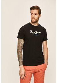 Czarny t-shirt Pepe Jeans z nadrukiem