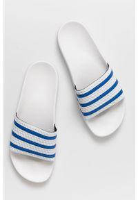 adidas Originals - Klapki. Kolor: biały. Materiał: guma