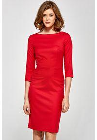 Sukienka elegancka, z krótkim rękawem