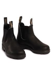 Czarne botki Blundstone na średnim obcasie, na obcasie, z cholewką #6