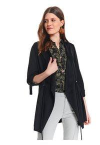 Czarna kurtka TOP SECRET elegancka, na wiosnę, w kolorowe wzory