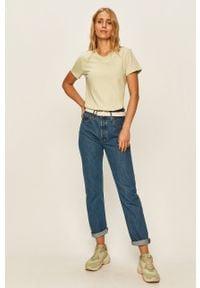 Niebieskie proste jeansy Levi's® na spotkanie biznesowe, z podwyższonym stanem, w kolorowe wzory, biznesowe #4